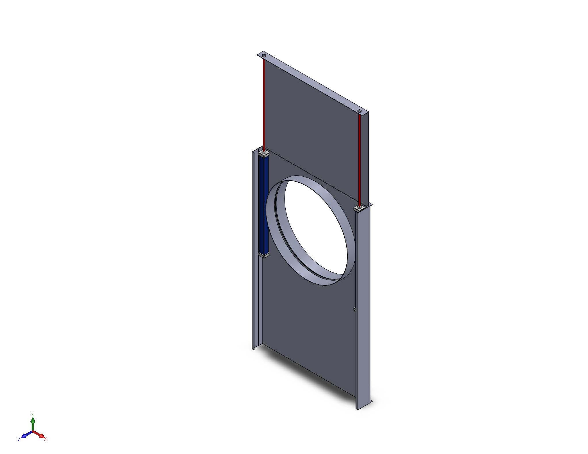 pneumatic slide gate damper